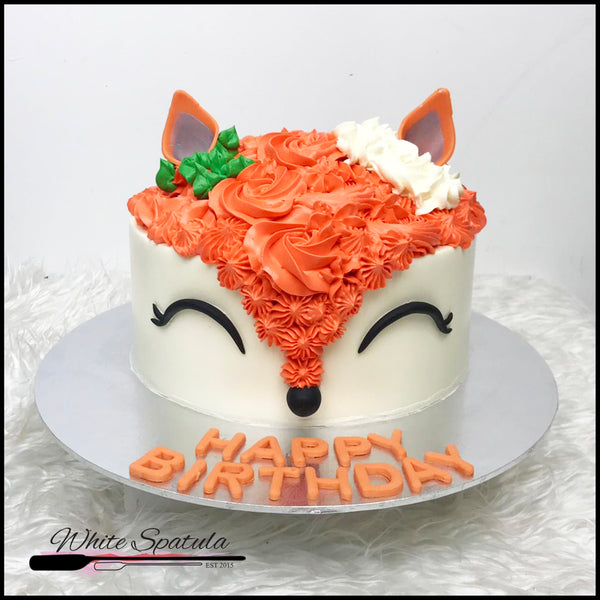 Enchanted Fox Buttercream Cake