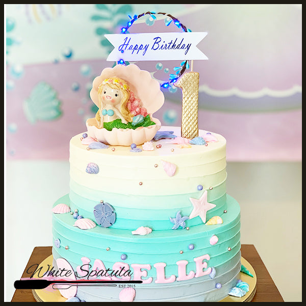 New Mermaid Buttercream Cake - White Spatula Singapore