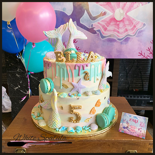 Under the Sea/Mermaid tail Buttercream Cake - White Spatula Singapore