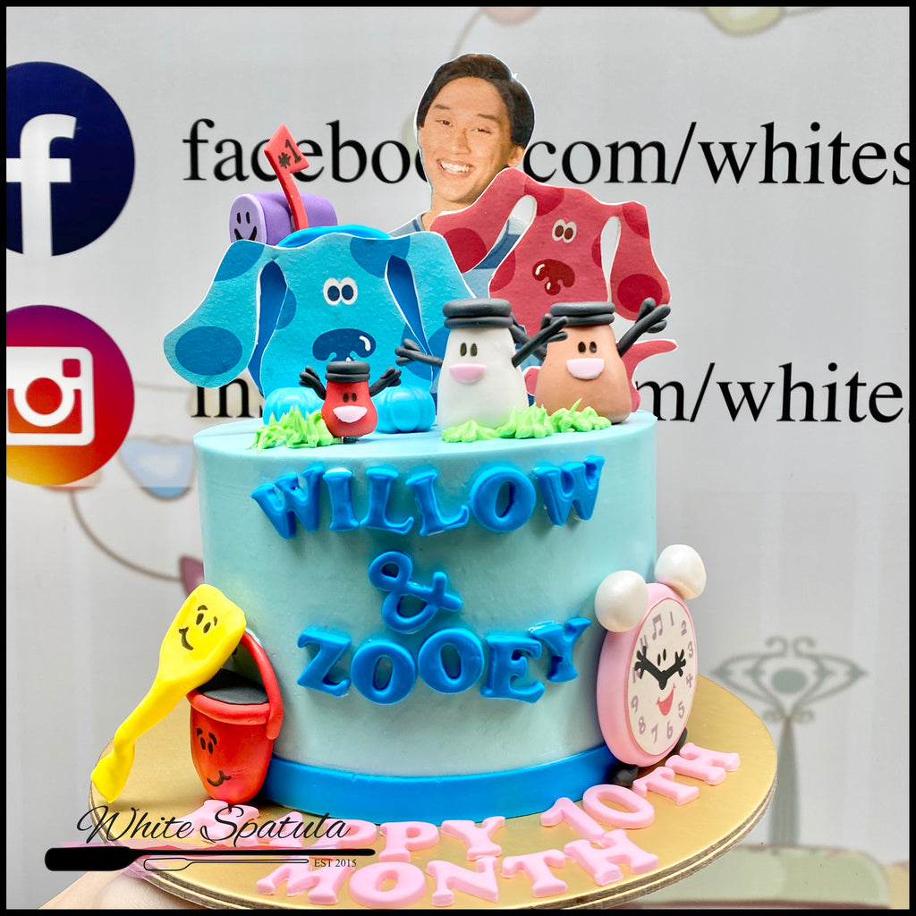 Blue Clues Buttercream Cake