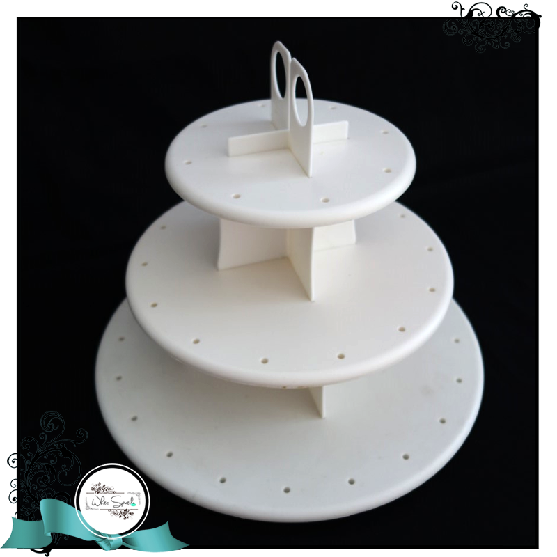Cake Pop Stand-3 tier - White Spatula Singapore