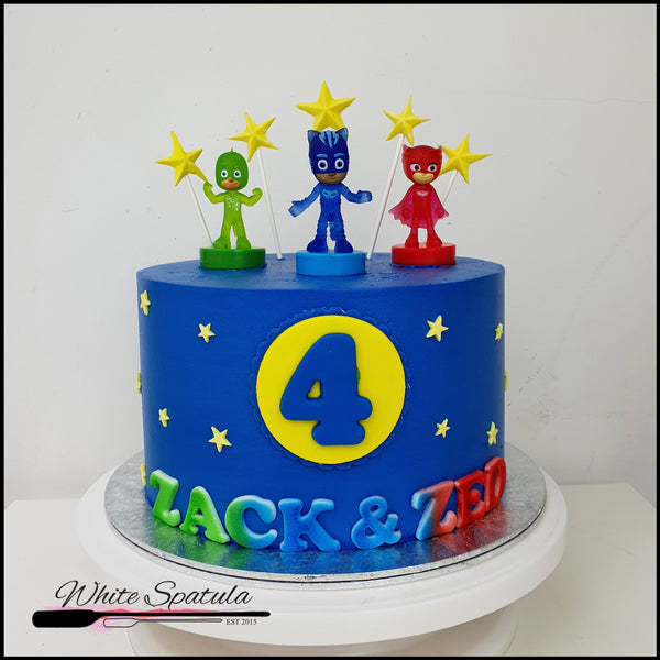 WS Cake with Free Authentic PJ Masks Toy - White Spatula Singapore