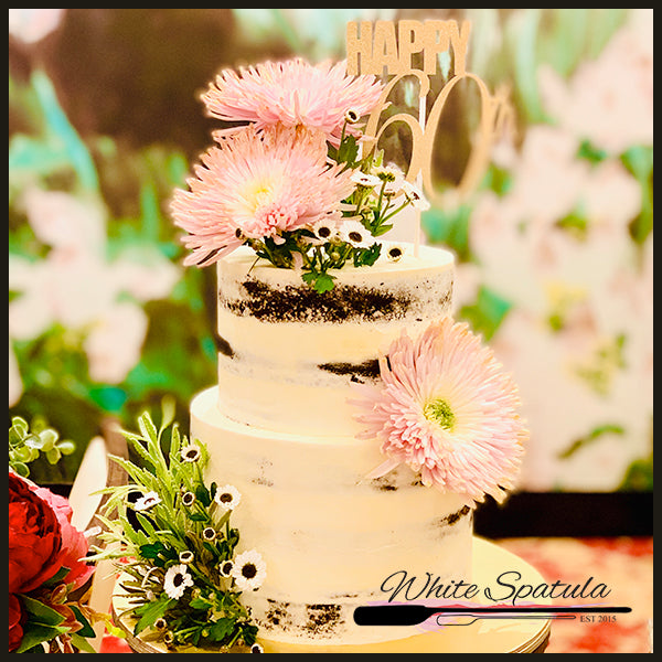 Fresh Flower Cake - White Spatula Singapore