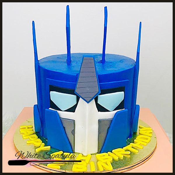 Robot Buttercream Cake - White Spatula Singapore
