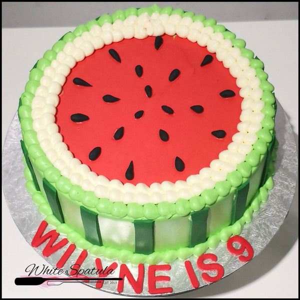 Watermelon Buttercream Cake - White Spatula Singapore
