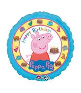 "Peppa Pig Teddy Foil Balloons (18"") - White Spatula Singapore"