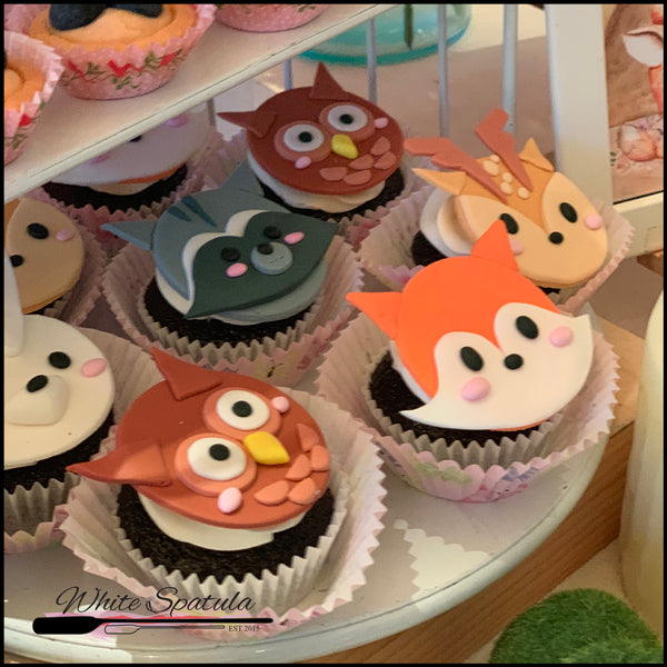 2D Enchanted Animal Cupcakes - White Spatula Singapore