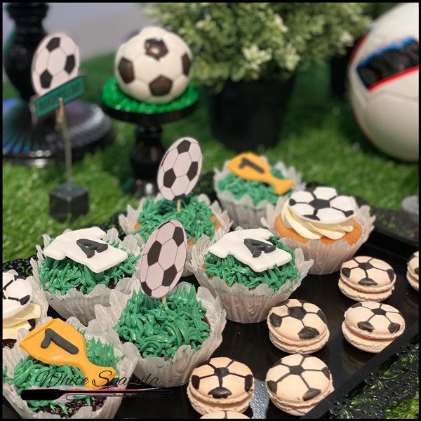 Football / Soccer Cupcakes - White Spatula Singapore
