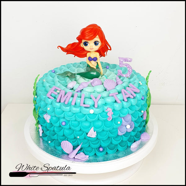 Mermaid Buttercream Cake - White Spatula Singapore