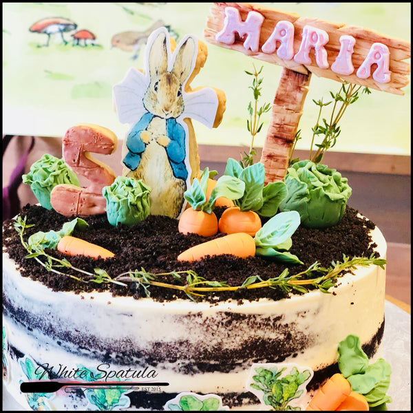 Classic Rabbit Buttercream Cake - White Spatula Singapore