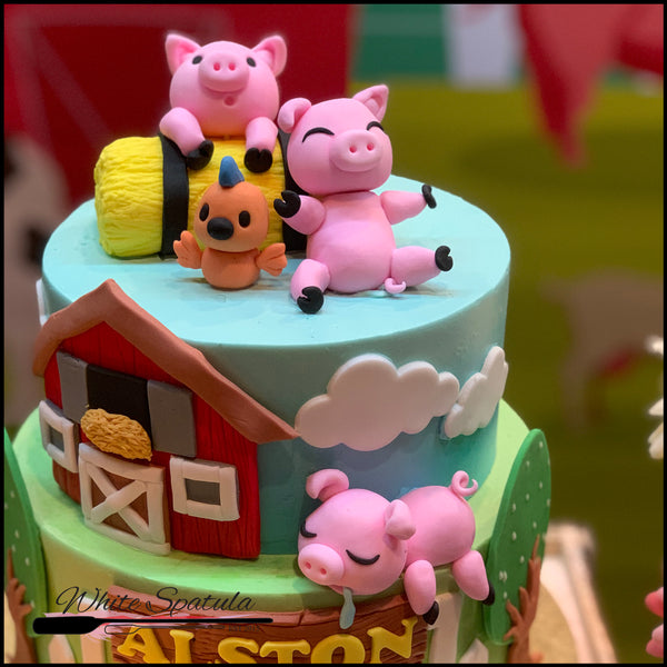 Piggy / Barnyard Animal Buttercream Cake