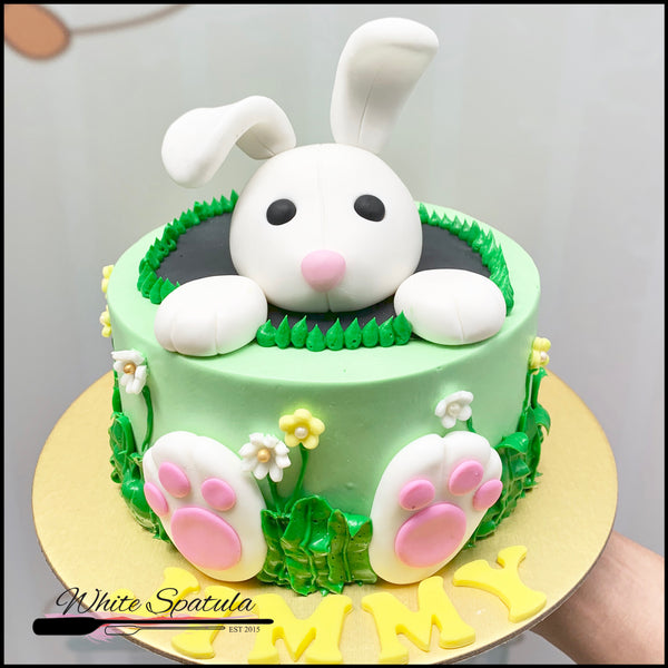 Easter Bunny Buttercream Cake - White Spatula Singapore