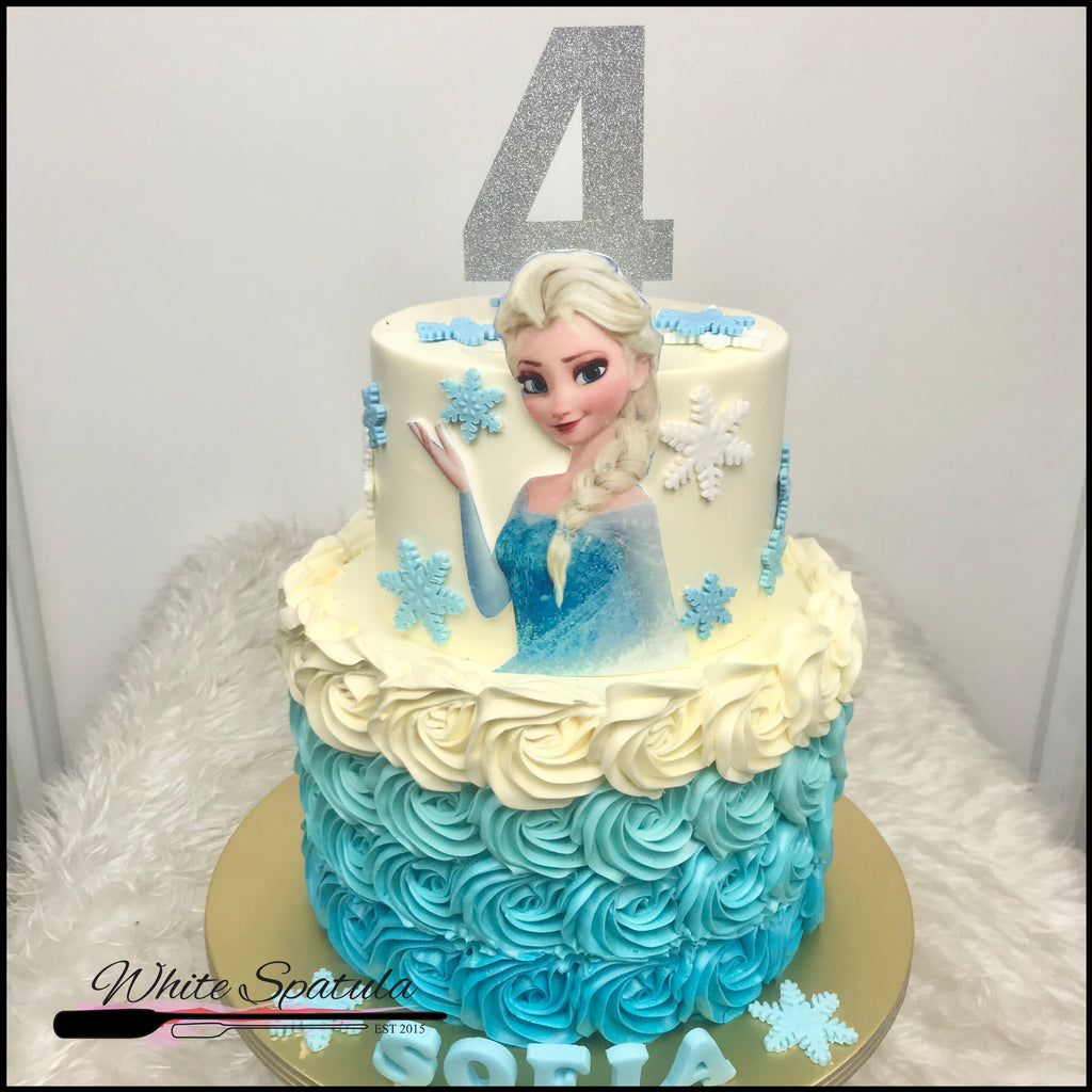 Princess of the Winter Wonderland Buttercream Cake - White Spatula Singapore
