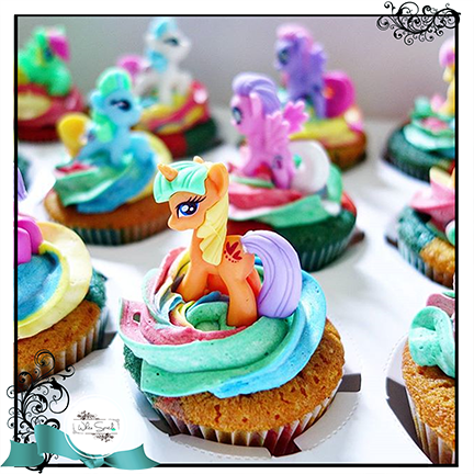 My Little Horsie Rainbow Cupcakes - White Spatula Singapore