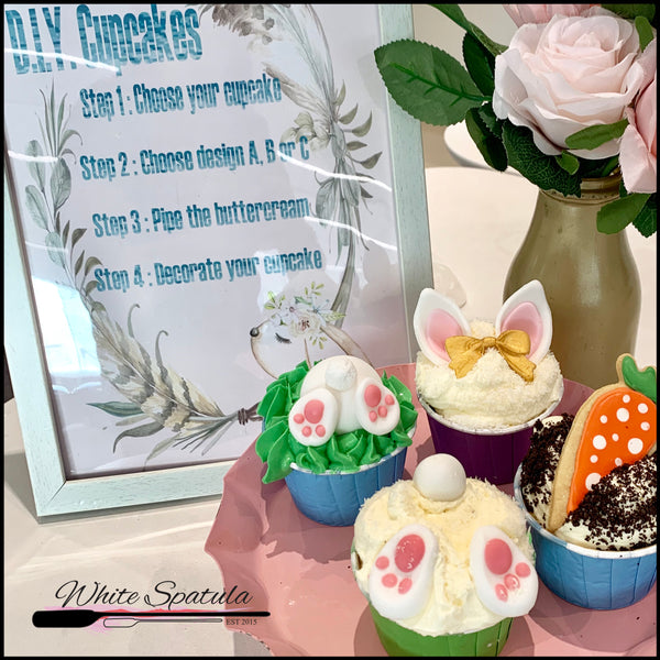 Home DIY Cupcake Set : Easter Theme - White Spatula Singapore