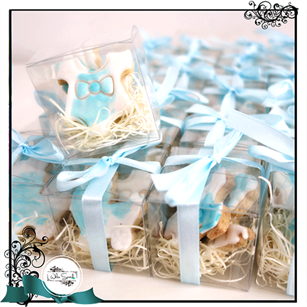 Baby Shower Cookie Favours in Box - White Spatula Singapore