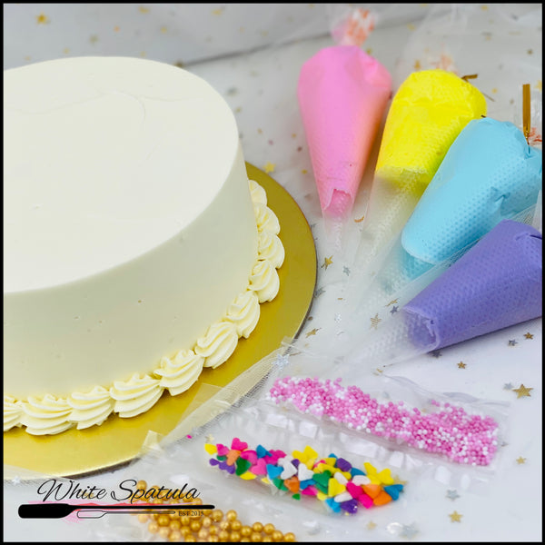 Stay Home DIY Cake Set - White Spatula Singapore