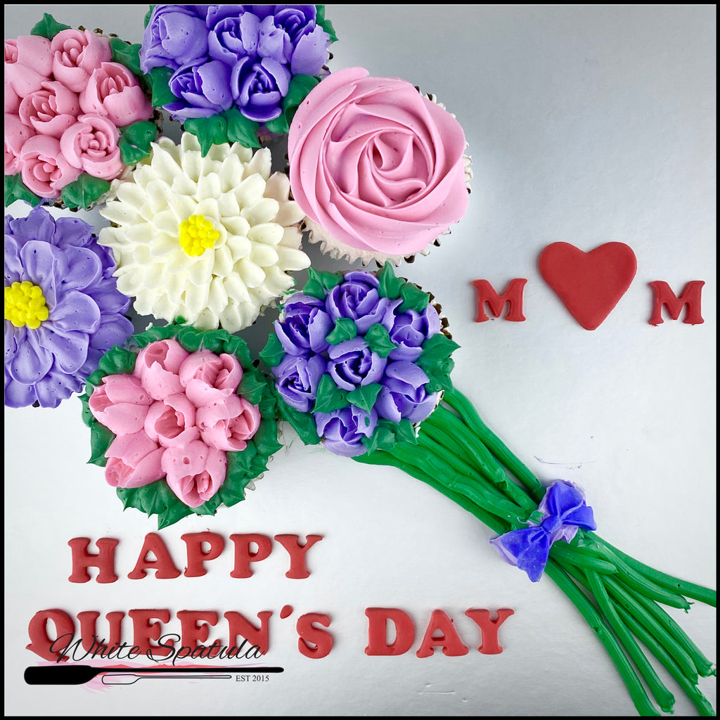 Mother's Day Cupcake Bouquet - White Spatula Singapore