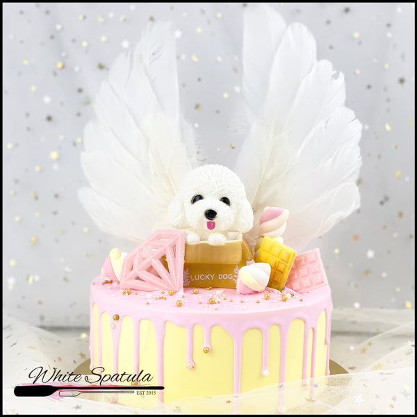 My Little Dog Buttercream Cake - White Spatula Singapore