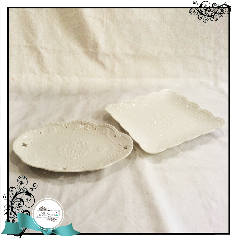 Ruffled White Plates (Square and Oval) - White Spatula Singapore