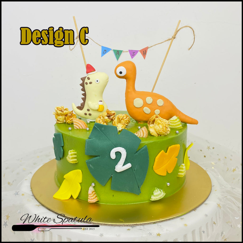 New Dinosaur Buttercream Cake - White Spatula Singapore