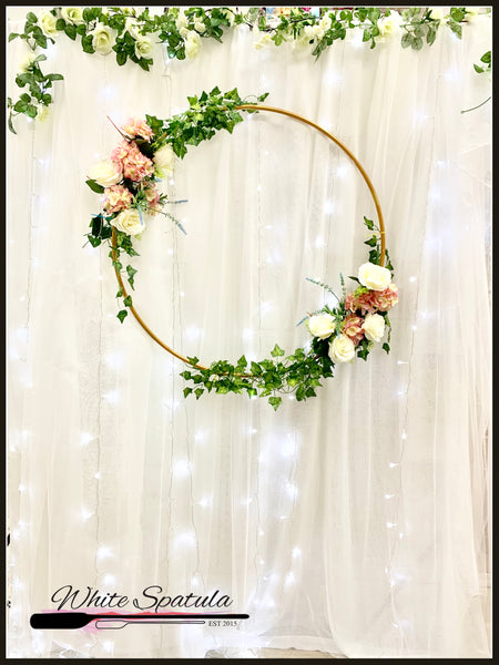 White Tulle Backdrop - White Spatula Singapore