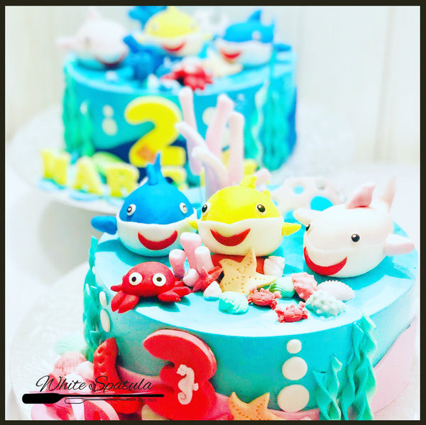Baby Shark Buttercream Cake - White Spatula Singapore