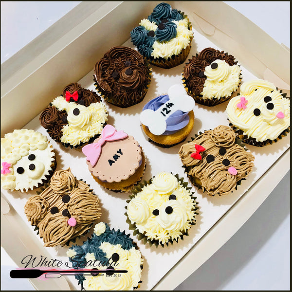 Puppy Cupcakes - White Spatula Singapore