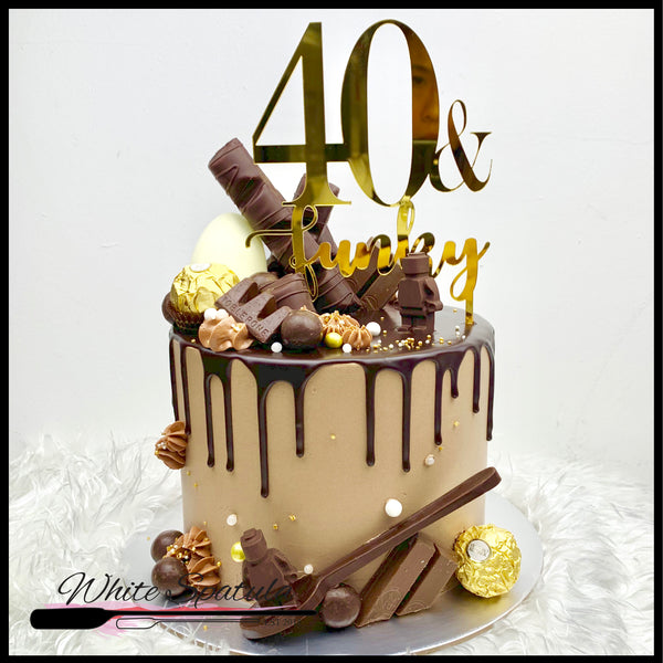 Chocolate Overload Buttercream Cake - White Spatula Singapore