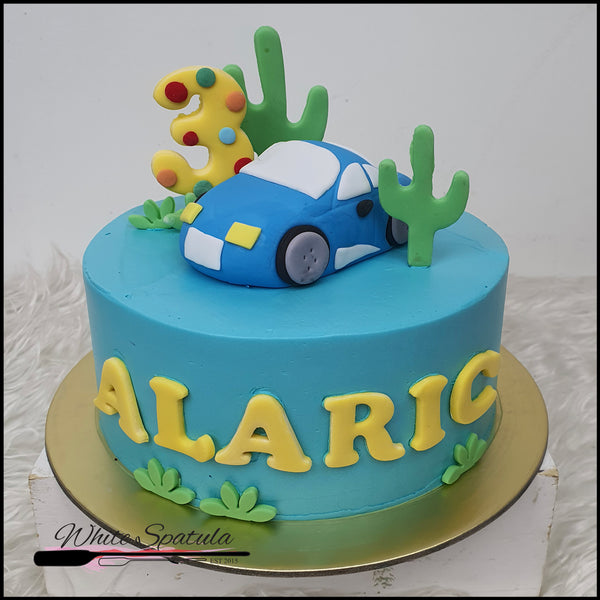 Car Buttercream Cake - White Spatula Singapore