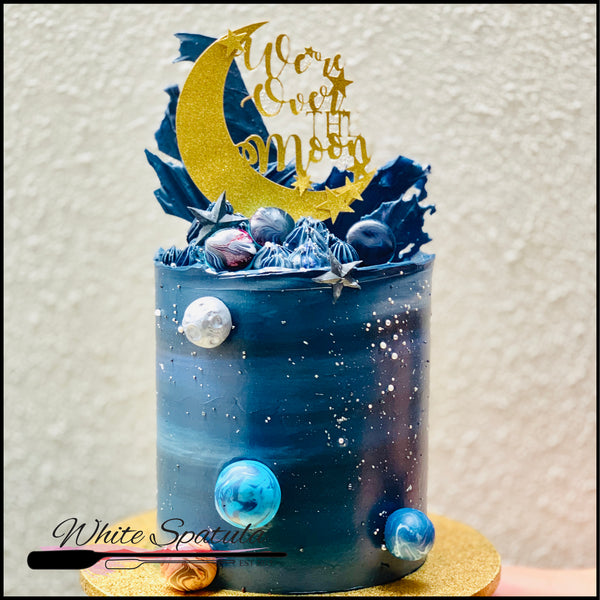 Galaxy Buttercream Cake - White Spatula Singapore