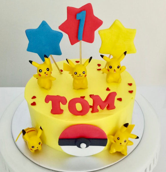 Pokemon Pikachiu Buttercream Cake - White Spatula Singapore