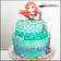Mermaid Buttercream Cake