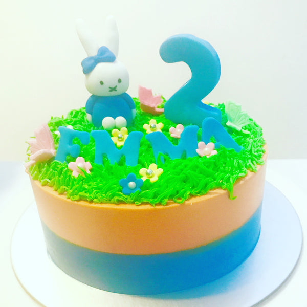 Rabbit Buttercream Cake - White Spatula Singapore