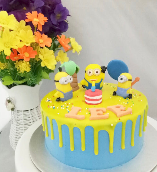 Minions Buttercream Cake - White Spatula Singapore