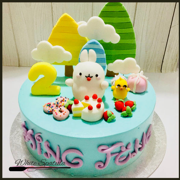 Molang and Piu Piu Buttercream Cake