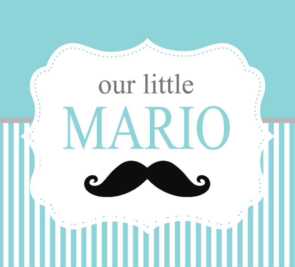 Little Gentlemen Backdrop/Mustache Backdrop - White Spatula Singapore