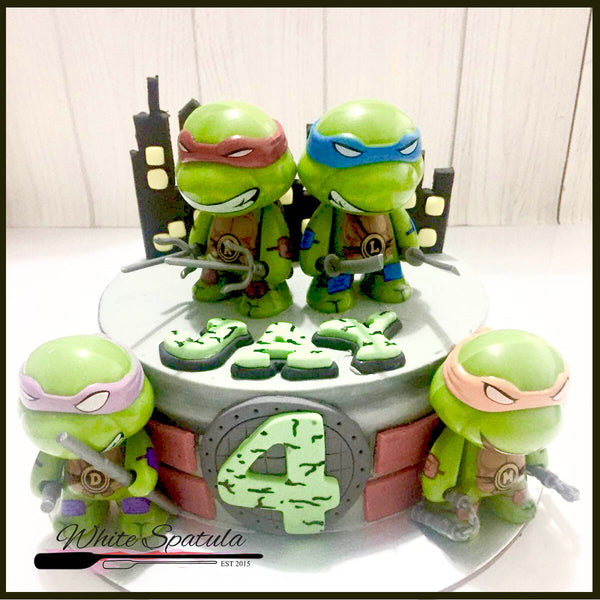 Ninja Turtle Buttercream Cake - White Spatula Singapore