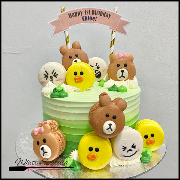 Bear and Friends Buttercream Cake