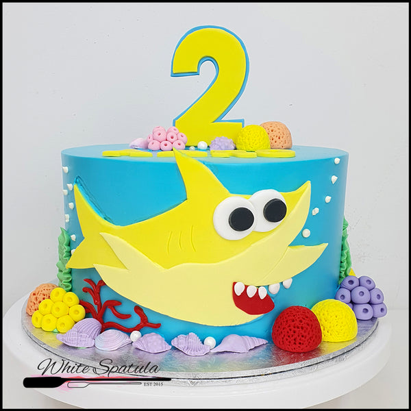 Mr. Shark Buttercream Cake - White Spatula Singapore