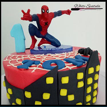 Spiderman Buttercream Cake - White Spatula Singapore