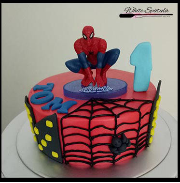 Spiderman Buttercream Fresh Baked Cake Singapore White