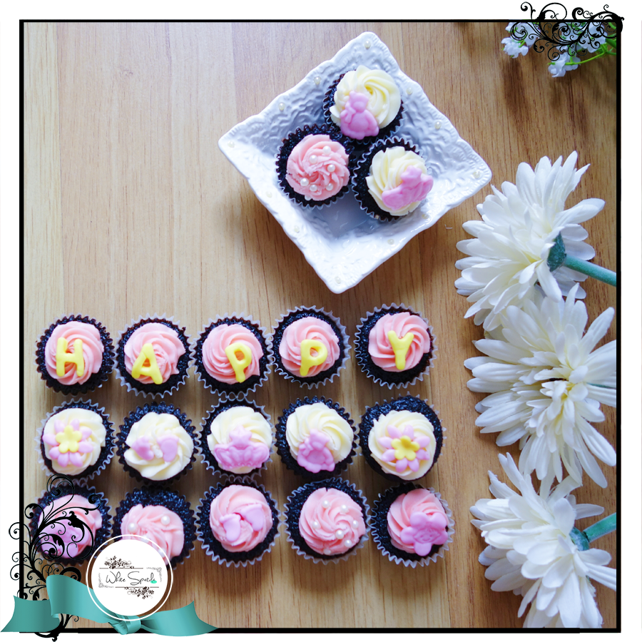 Baby Shower Cupcakes - White Spatula Singapore