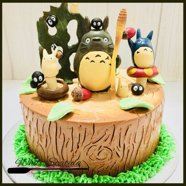 Totoro Buttercream Cake - White Spatula Singapore