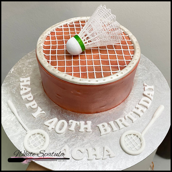 Badminton Buttercream Cake