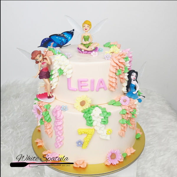 Fairies Buttercream Cake - White Spatula Singapore