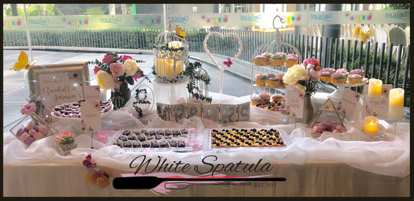$999 Grand Event/Party Dessert Table Package Promotion (55 - 85 pax) - White Spatula Singapore