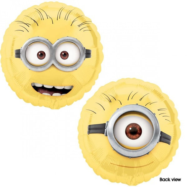 Minion 2 Face Balloons - White Spatula Singapore