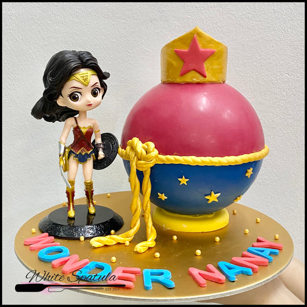 Wonder Girl Pinata Surprise Cake