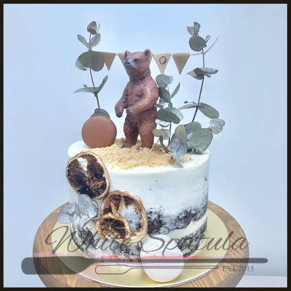 Rustic Animal Buttercream Cake - White Spatula Singapore